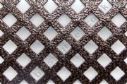 Woven Effect Diamond Aluminium Decorative Grille - Antique Copper 2000mm x 1000mm x 1mm